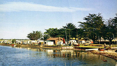 Caranvans on Foreshore, early 1960s
