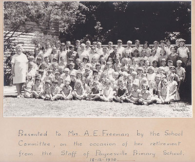 Anne Freemans Retirement from Paynesville Primary 1970